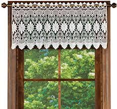 collections etc makramee vorhang mit gewelltem volant für badezimmer schlafzimmer küche weiß