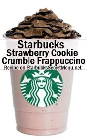 Starbucks Secret Menu Strawberry Cookie Crumble Frappuccino