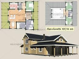 plan maison en bois gratuit plans gratuits de maisons bois contemporaines toit plat