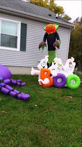Halloween Blow Up Decorations For The Yard by 2014 Halloween Inflatables Day Walk Youtube