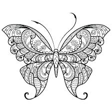 Cute Butterfly Coloring Pages Free Printable Stencils For Walls