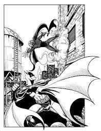 Batman Vs Mysterio Coloring Pages
