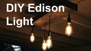 diy hanging edison light