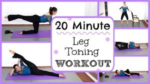20 Minute At Home Leg Toning Strengthening Workout