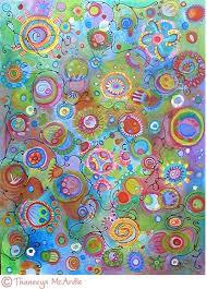 Whimsical Abstract Watercolor Art By Thaneeya
