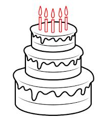 How to draw a cartoon cake 1642