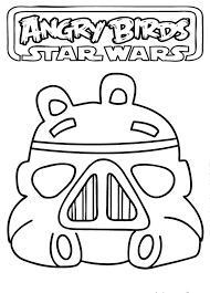 Star Wars Angry Birds Coloring Page
