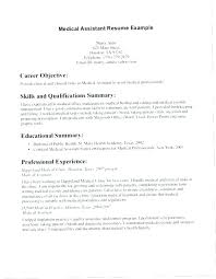 Objective For A Medical Assistant Resume Ma Examples Top Rated Office