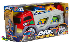 100 Tonka Strong Arm Garbage Truck Kid Connection Car Transporter Toy Review Jaces First Solo Video