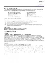 Resume For Office Assistant Examples Example Qualifications Summary Administrative Strenghts And Exampl Medium Size