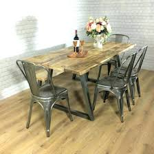 Dining Tables Round Industrial Table Rustic Style Vintage With Wood Plank Plan 15