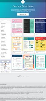 Resume Templates From Canva