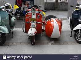 Vespa Scooter And Sidecar Stock Photo Royalty Free Image