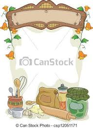 Country Kitchen With Blank Sign Vector