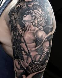 Greek Warrior God Sleeve Tattoo By Tony Davis Soular