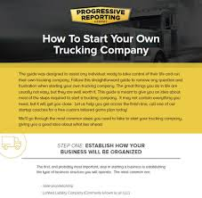 100 Start A Trucking Company How To