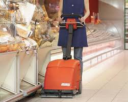 Commercial Floor Scrubbers Australia by Scrubmaster B10 Industrial Floor Scrubber Battery Powered