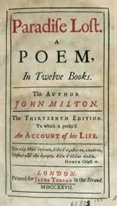 Paradise Lost By John Milton 1608 1674