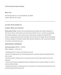 Sample Resume Cashier Tim Hortons Feat Fast Food Template