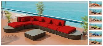 Semi Circle Outdoor Patio Furniture by Ione Island Round Viro Outdoor Wicker Sectional Sofa Set By Las