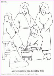 Page By Allegiancewars Coloring Jesus Washing Disciples Feet