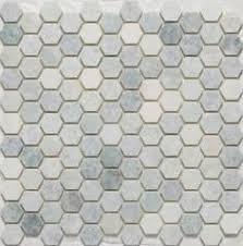 lyric unglazed porcelain hexagon mosaic tile in ivory high