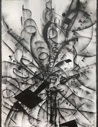 Black And White Abstract Drawing 4