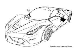 Cars Coloring Page Ferrari LaFerrari F150 LetMeColor 550