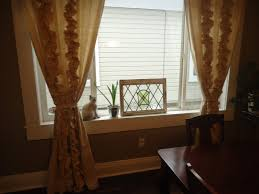 Ive Got A Lot Of Color In My House So I Liked The Idea Neutral Yet Dramatic Drapes Here They Are Hanging Dining Room