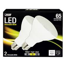 feit 65w frosted led reflector bulb br30 dm ledg3 2 led light