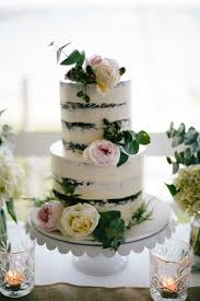 Rustic Chocolate Semi Naked Cake With Pink Peonies And Cream Roses