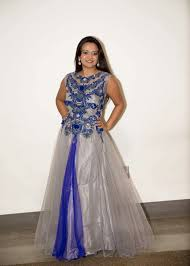 cocktail dresses indian wearing a beautiful gown grey and
