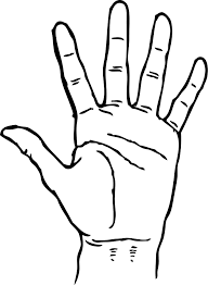 Hand Outline Photos Of Ten Two Hands Coloring Page