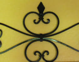 Fleur De Lis Metal Wall Decor Scrolled Wrought Iron Hanging Black Or Pick