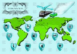 World Map With Travel Services