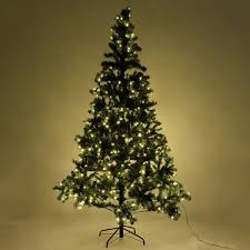 8 Ft Pre Lit Artificial Christmas Tree W Stand 450 LED Lights