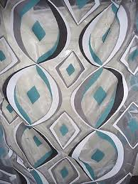 heco gardine ausbrenner vorhang stoff retro petrol grau weiß