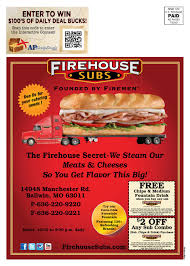 E Ballwin By Ad Pages Magazine - Issuu Top 10 Punto Medio Noticias Bulldawg Food Code Smashburger Coupon 5 Off 12 Coupons Deals Recipes Subway Print Discount Firehouse Subs 7601 N Macarthur Irving Tx 2019 All You Need To Valpak Coupons Findlay Ohio Code American Girl Doll Free Jerry Subs Coupon Oil Change Gainesville Florida Myrtle Beach Sc By Savearound Issuu Free Birthday Meals Restaurant W On Your New 125 Photos 148 Reviews Sandwiches 7290 Free Sandwich From Mullen Real Estate Team Donate 24pack Of Bottled Water Get Medium Sub Jersey Mikes Printable For Regular Page 3