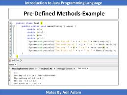 Java Math Ceil Example by Introduction To Java Programming Lecture No 5
