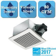 Humidity Sensing Bathroom Fan Wall Mount by Delta Breez Signature Series 80 Cfm Humidity Sensing Ceiling