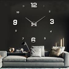 wanduhr spiegel moderne design wohnzimmer nummer uhren