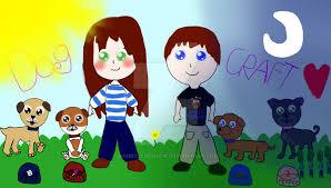 Stacyplays DogCraft Fan Art by GamerBlueSnow