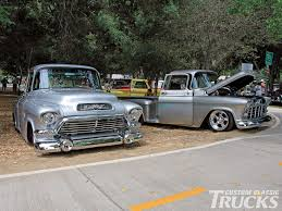 Miranda's Silver Big-Window '55 Chevy At Right. View Related Article ... 51959 Chevy Truck 1957 Chevrolet Stepside Pickup Short Bed Hot Rod 1955 1956 3100 Fleetside Big Block Cool Truck 180 Best Ideas For Building My 55 Pickup Images On Pinterest Cameo 12 Ton Panel Van Restored And Rare Sale Youtube Duramax Diesel Power Magazine Network Ute V8 Patina Faux Custom In Qld