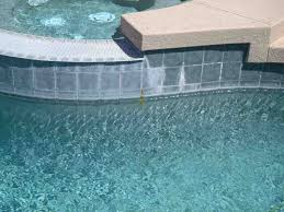 rebar rust stain behind waterline tile underwater operations