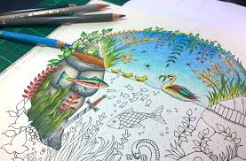 Colouring Tutorial Series Duck Pond Part 2