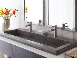 Two Faucet Trough Bathroom Sink by Rectangular Bathroom Sink With Two Faucets Best Bathroom Decoration