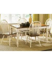 Low Country White 5 Piece Windsor Back Rectangular Table Dining Set Liberty