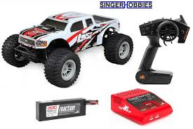LOSI 1/10 TENACITY 4WD RC Monster Truck Brushless RTR AVC W/ LIPO ...