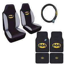 100 Classic Truck Seats 7pc Set Batman Logo Car Floor Mats Steering Wheel