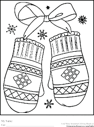 Coloring Sheets Kids Winter Pages For Free Printable Holiday